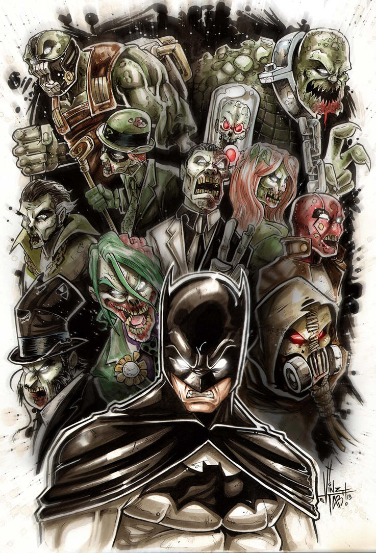 BATMAN vs ZOMBIE ennemy by Vinz-el-Tabanas
