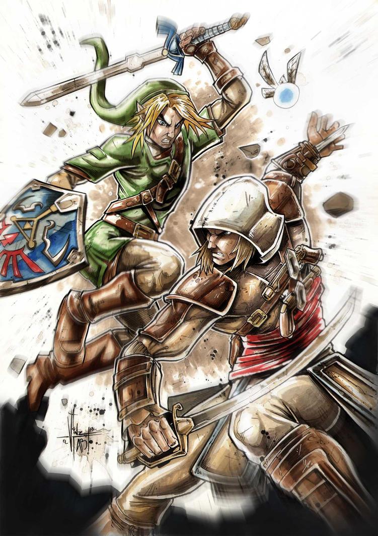 LINK vs ASSASSIN'S CREED by Vinz-el-Tabanas