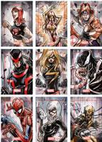 Marvel Sketch cards by Vinz-el-Tabanas