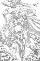LADY DEATH pencil by Vinz-el-Tabanas