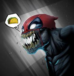 Deadpool venom by Vinz-el-Tabanas