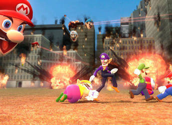 Mario invasion of GMod by TPS-Enzo