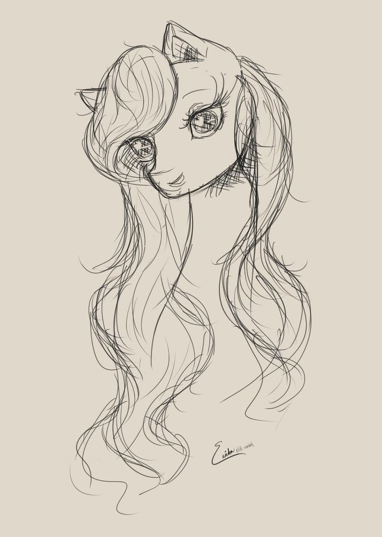 Pony Doodle by rick-wombat