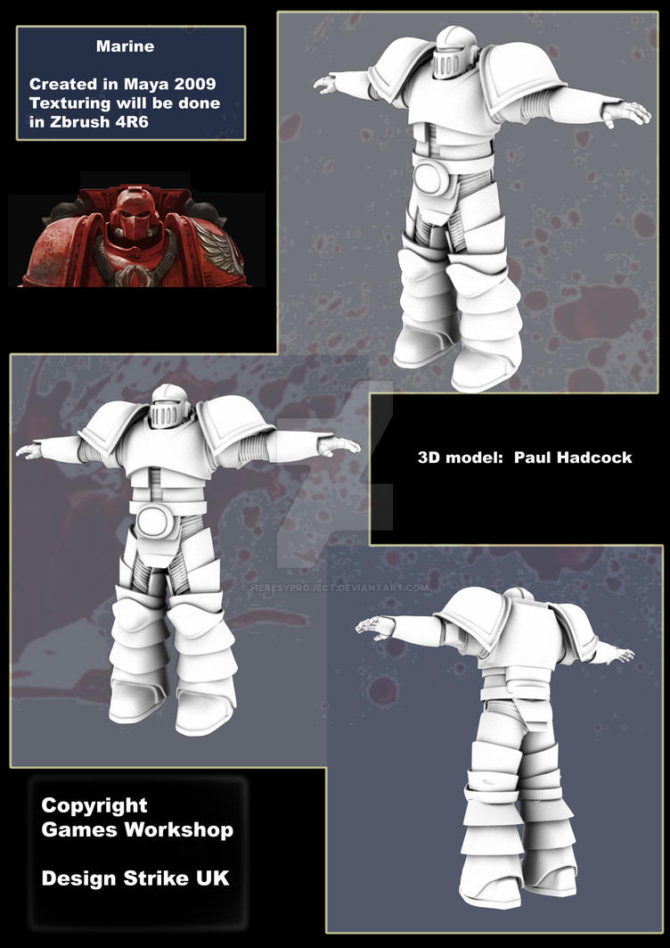 3D Marine Wip MK II Armour WIP by HeresyProject