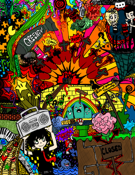 Green Day Doodle -coloured-