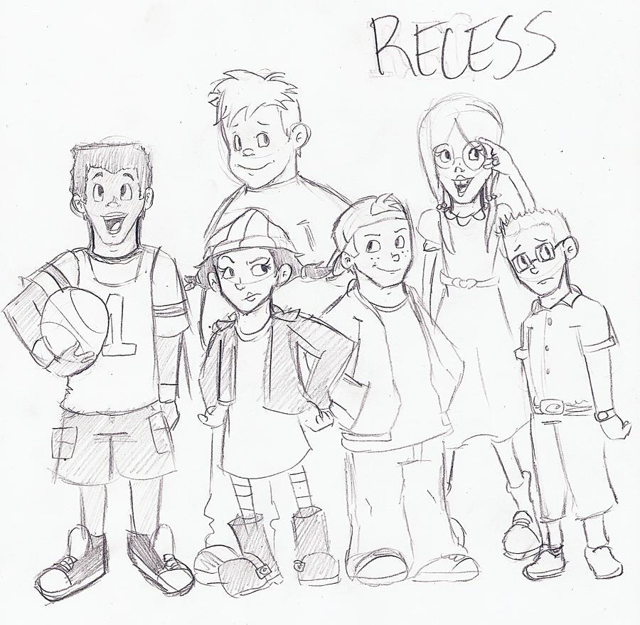 Disneys recess coloring pages - Disney S Recess By Lewisrockets