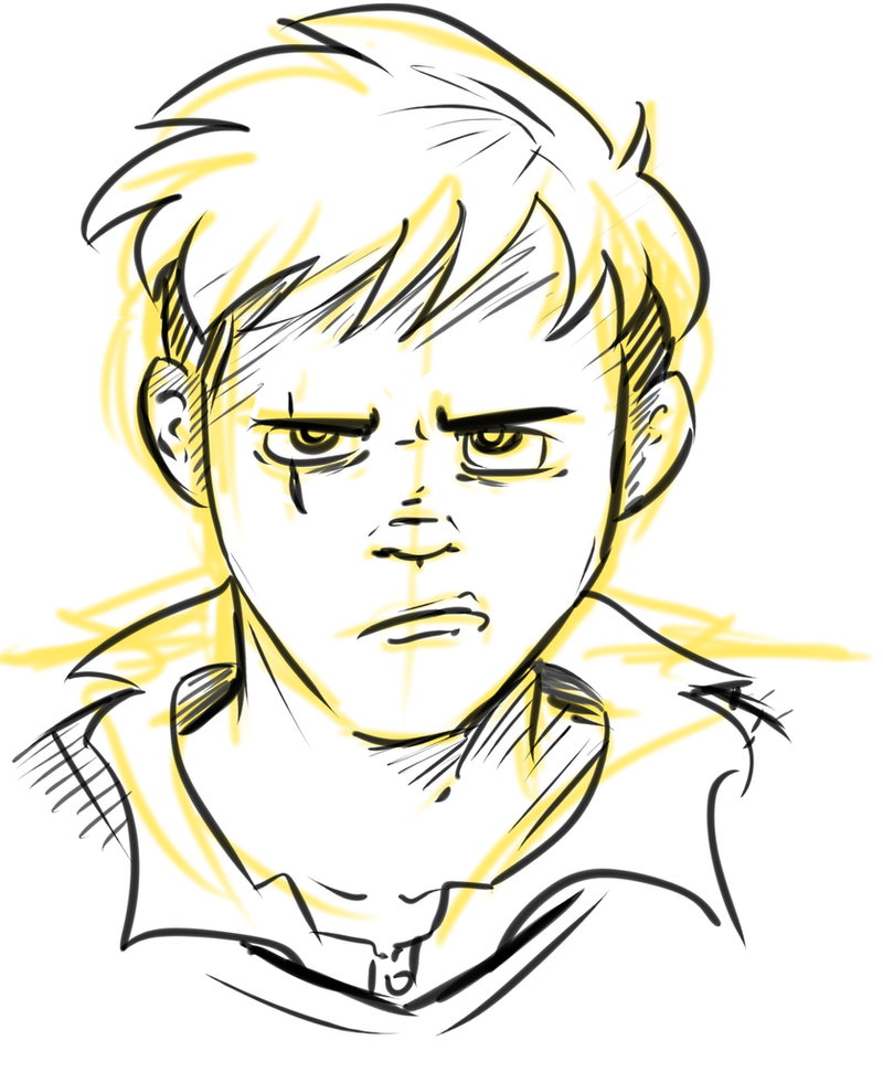 Anime angry face drawing