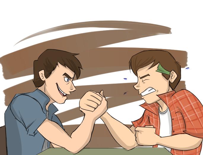 Outsiders: Steve vs Sodapop by lewisrockets
