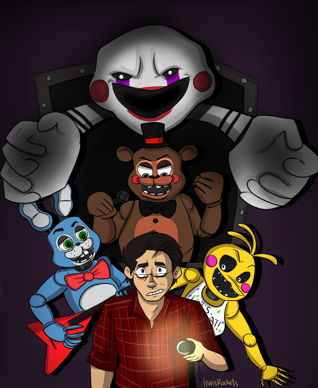 FNAF2: It begins! by lewisrockets on DeviantArt Markiplier Fnaf