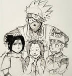 Inktober: Day 8 - Team 7 by lewisrockets