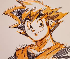 DBZ: Goku | Sketch by lewisrockets