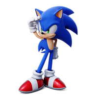 Remake of my first modern Sonic render by Geki696