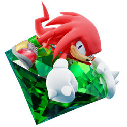 Knuckles - Guardian of the Master Emerald - Render