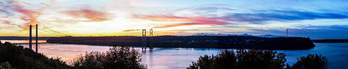 Sunset Over Tacoma by martiansummer
