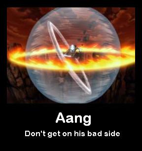 An Aang Demotivational Poster by MetasActReon