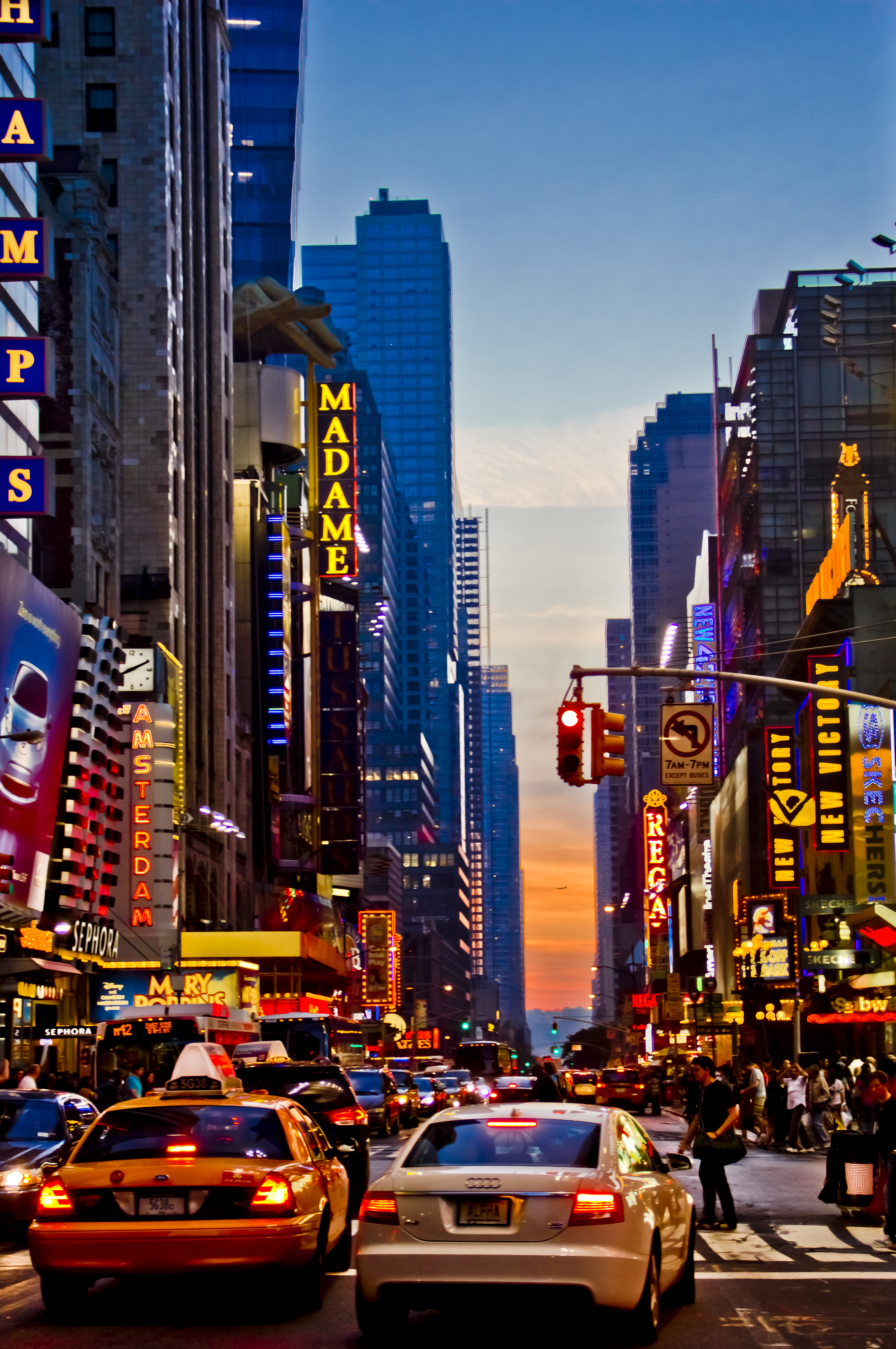 Sunset At Times Square By Mike Iow On Deviantart
