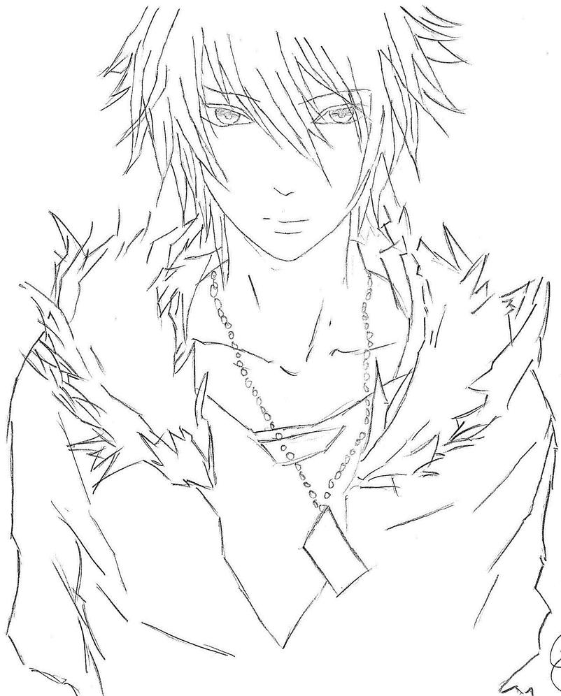 Exceptional Anime Guy In Hoodie Coloring Pages