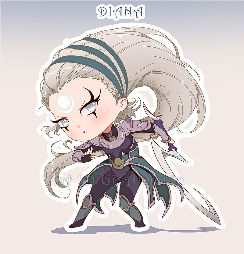 Chibi Diana - League of Legends by GisAlmeida