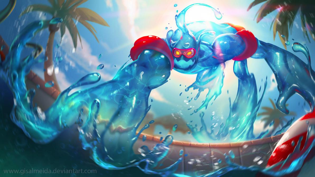 League of Legends: Pool Party Zac by GisAlmeida on DeviantArt