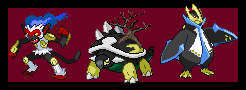 dark Shinoh starters by bambis1