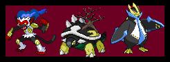 dark Shinoh starters by bambis1