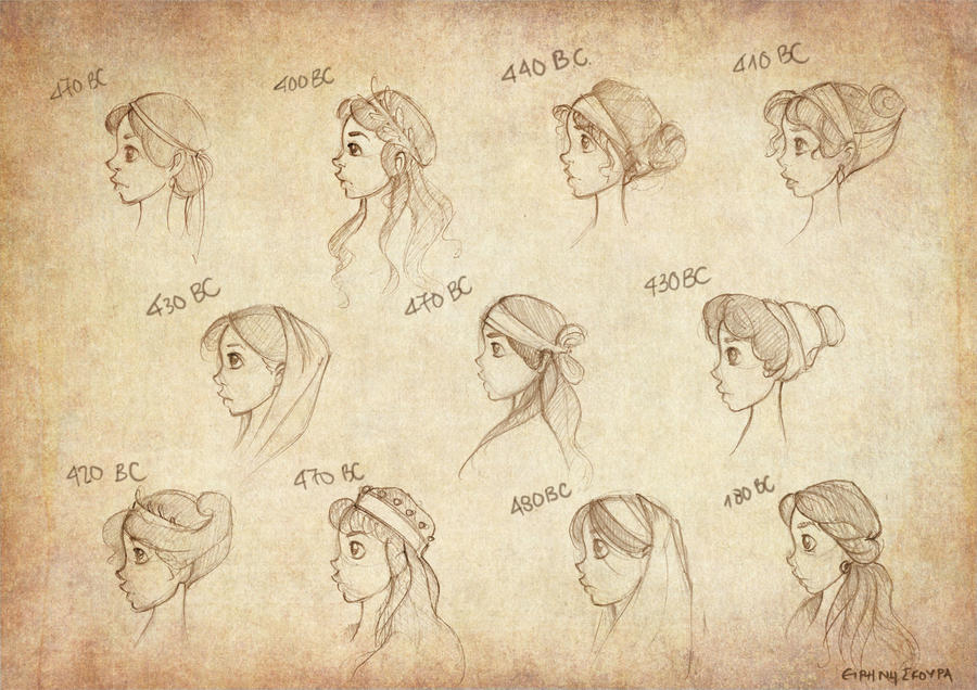 Ancient Greek Hairstyles By Ninidu On DeviantArt