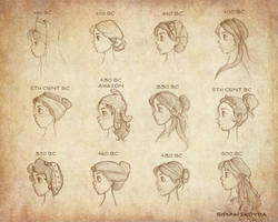 Ancient Greek Hairstyles Vol 2 by Ninidu
