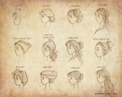 Ancient Greek Hairstyles Vol 2