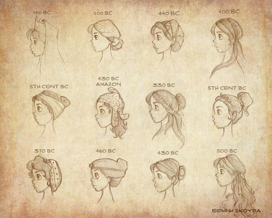 Ancient Greek Hairstyles Vol 2 By Ninidu On DeviantArt