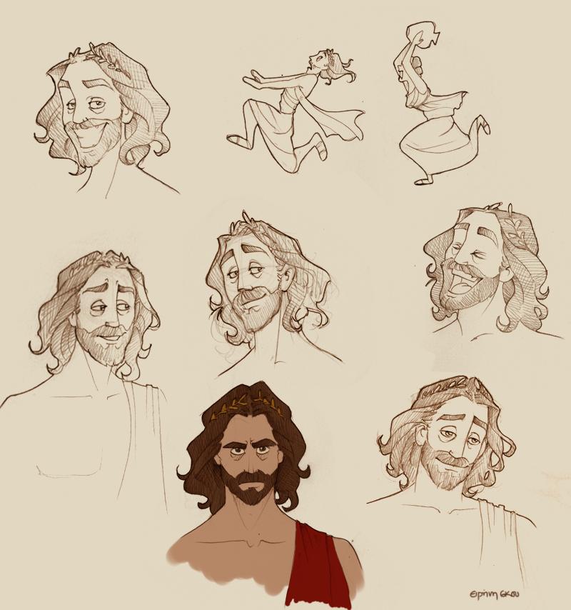 Zeus doodles by Ninidu