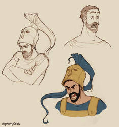 Ares doodles by Ninidu