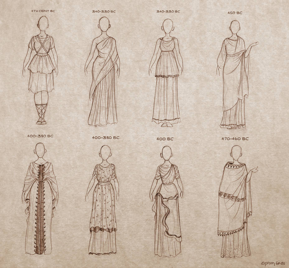 Ancient Greek Dresses by Ninidu