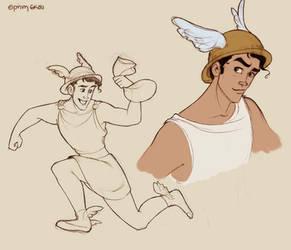 Hermes doodles by Ninidu
