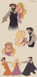 Hades and Persephone doodles by Ninidu