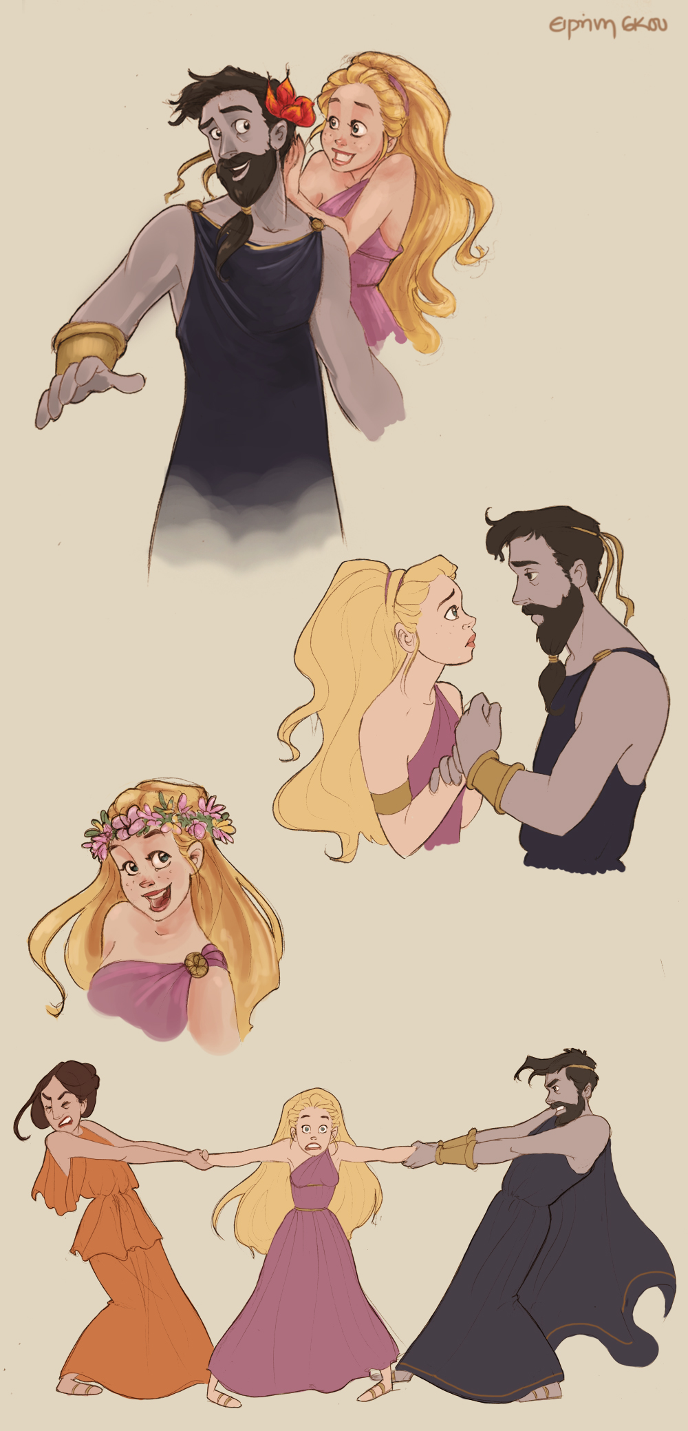 Hades and Persephone doodles