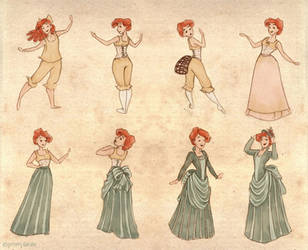 A Lady's Dressing Proccess by Ninidu