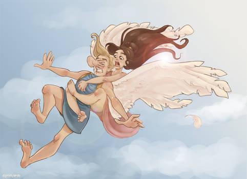 On Eros' wings