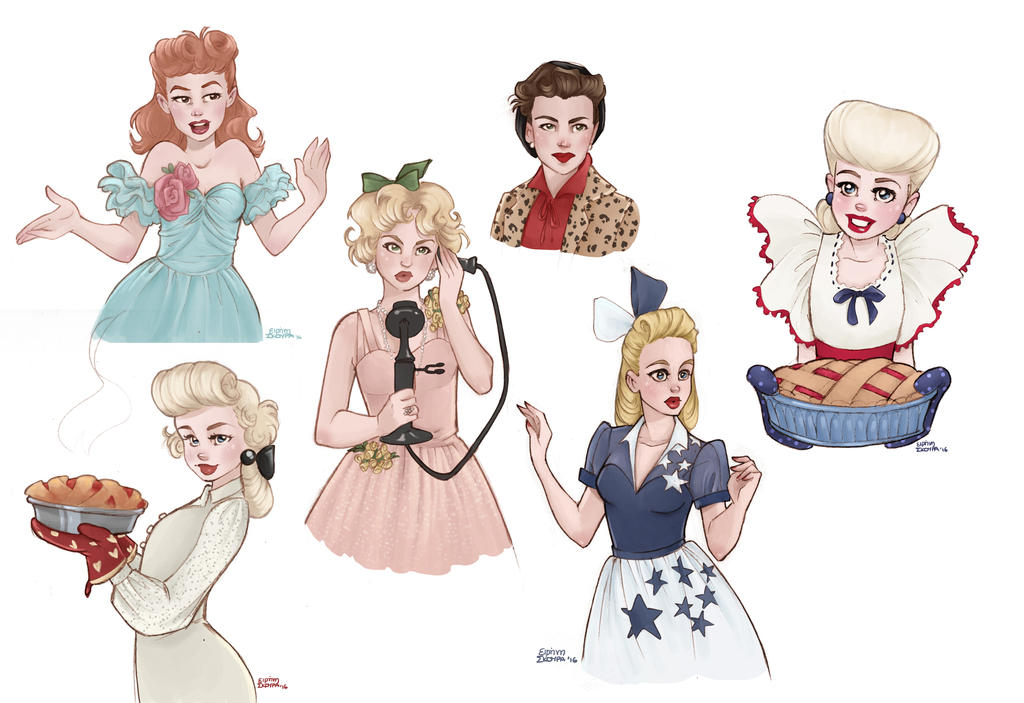 Classic Hollywood doodles