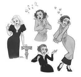 Classic Hollywood doodles no3 by Ninidu