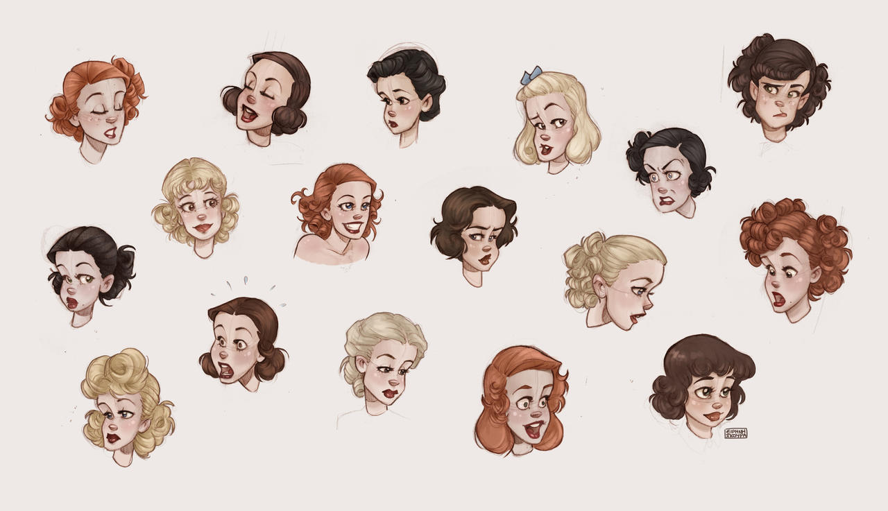 1930s hairstyles for women by ninidu on deviantart