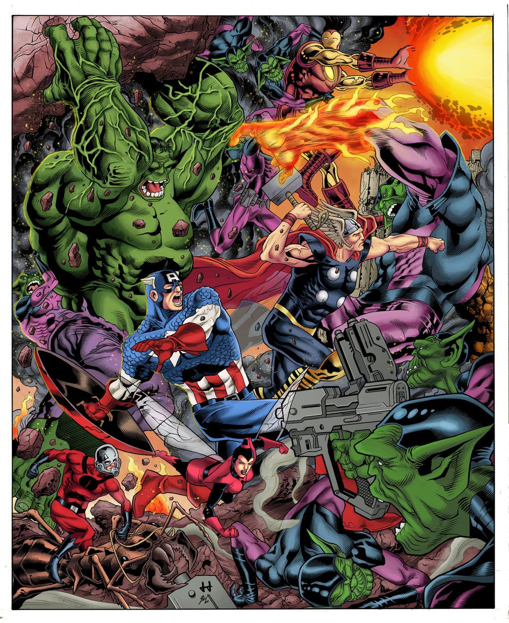 Avengers vs Skrulls