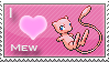 Mew Love Stamp by SquirtleStamps