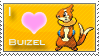 Buizel Love Stamp by SquirtleStamps
