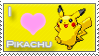 Pikachu Love Stamp by SquirtleStamps
