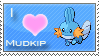 Mudkip Love Stamp by SquirtleStamps