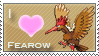 Fearow Love Stamp
