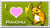 Raichu Love Stamp by SquirtleStamps