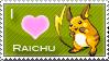 Raichu Love Stamp