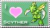 Scyther Love Stamp