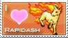 Rapidash Love Stamp by SquirtleStamps